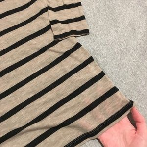 Express Tops - Express One Eleven VNeck Striped Long Sleeve Shirt